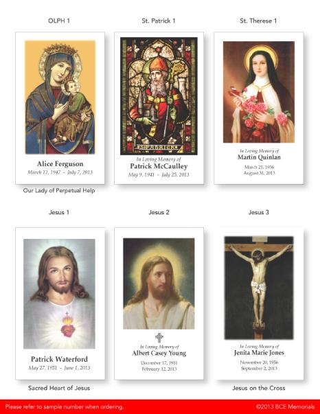 ©2013 BCE Memorials/Business Cards Etc.